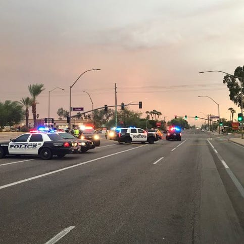 Mesa police shoot man after he injured officer during a traffic stop
