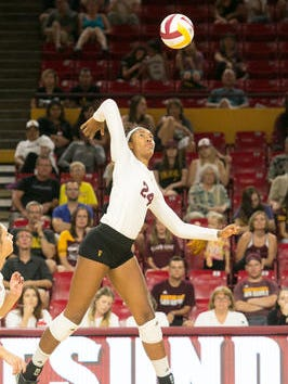 Mercedes Binns is No. 27 nationally in hitting percentage for No. 7 ASU going into Pac-12 play.
