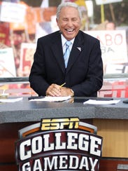 Lee Corso at Florida State in 2012.