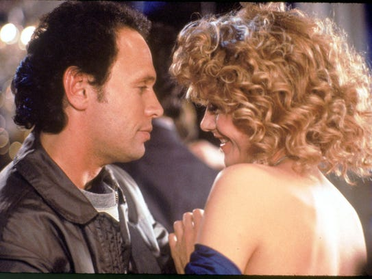"Meg Ryan and Billy Crystal in a scene from 1989's ""When Harry Met Sally."""