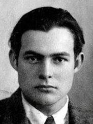 A young Ernest Hemingway.