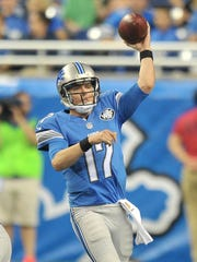Quarterback Kellen Moore signed with the Lions as an undrafted free agent, but never took a regular-season snap in three seasons in Detroit.