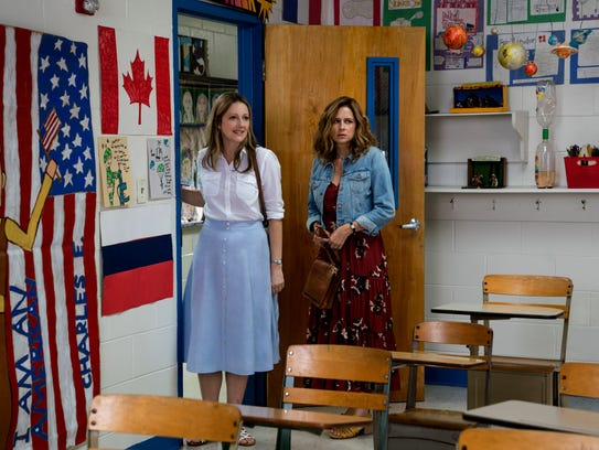 "Judy Greer (left) and Jenna Fischer star in ""The 15:17"