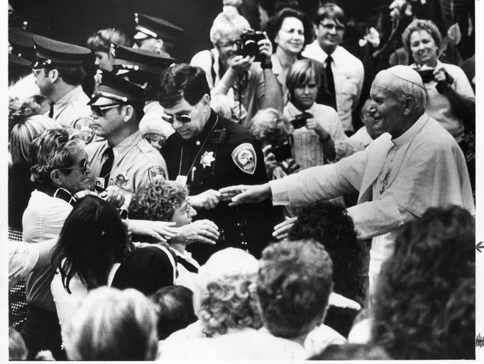 Saint John Paul II visiting Monterey County, Sept.