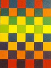 "The interplay of color theory and geometric patterns is evident in ""King Me,"" a painting by David John Rush. The Byram artist was strongly influenced by the work of Paul Klee and other artists of the Bauhaus school, and in 2003 he was selected as guest artist at the Bauhaus Museum and Archives in Berlin."