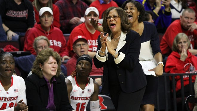 Rutgers head coach C. Vivian Stringer and her team will take on the Iowa Hawkeyes on Monday.
