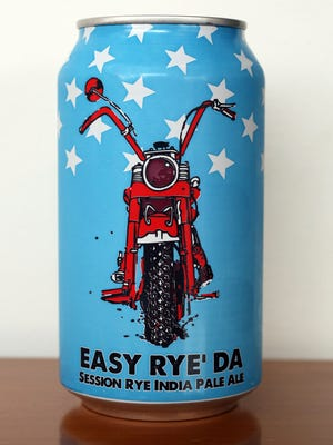 The Easy Rye' Da Session Rye India Pale Ale, part of a mixed six pack of craft beer selected by Beer Noggin in Bronxville, March 25, 2016.