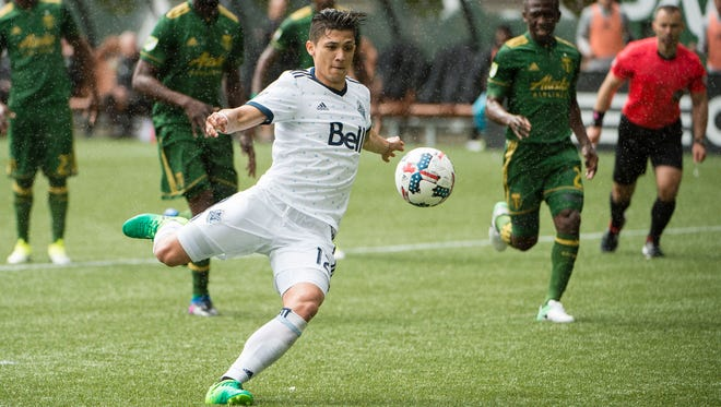 The Vancouver Whitecaps' Fredy Montero has scored three goals in two games against his team's Cascadia rivals.