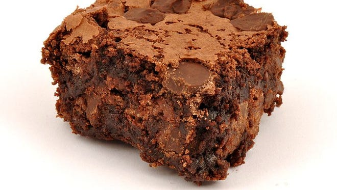 Photo of a brownie.
