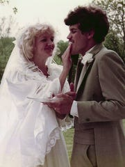 Chonda and David Pierce on their wedding day in 1984 in Ashland City