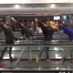 State Street Ballet dancers make use of a five-hour layover.