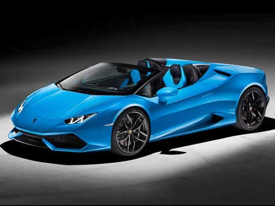 The 2016 Lamborghini Huracan LP 610-4 Spyder.