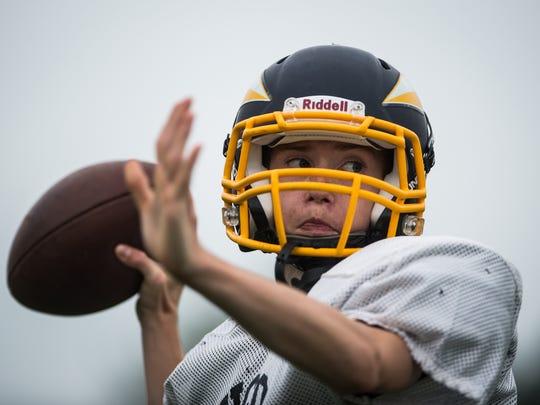 Darien Ulrich, a junior, is expected to share the quarterback job with freshman Braden Bohannon this season at Elco.
