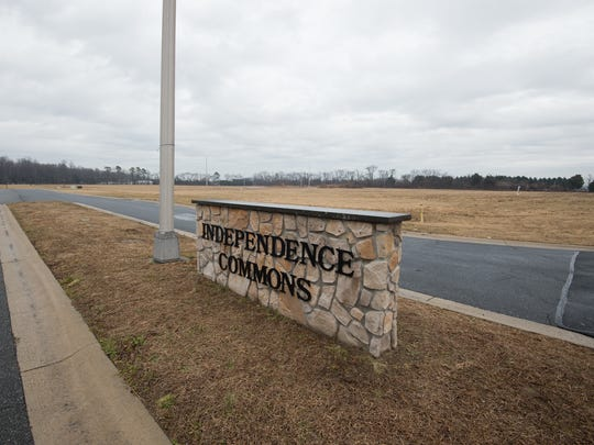 Main entrance to the Independence Commons business park in Milford.