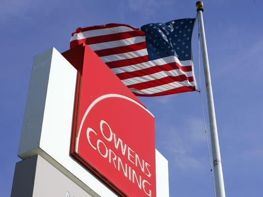 Owens Corning Fiberglass Newark Plant stock art