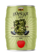 Five-liter Mini-kegs of Hopslam double IPA from Comstock-based Bell's Brewery will be released in January 2018, along with cans and bottles, the brewery announced Wednesday.
