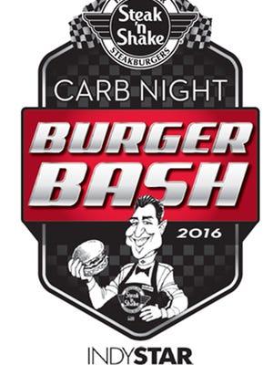 The Steak 'n Shake Carb Night Burger Bash will be held downtown at The Pavilion at Pan Am Plaza, at 6:30 p.m. on May 27, 2016.