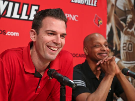 Interim coach David Padgett with assistant coach Trent Johnson.