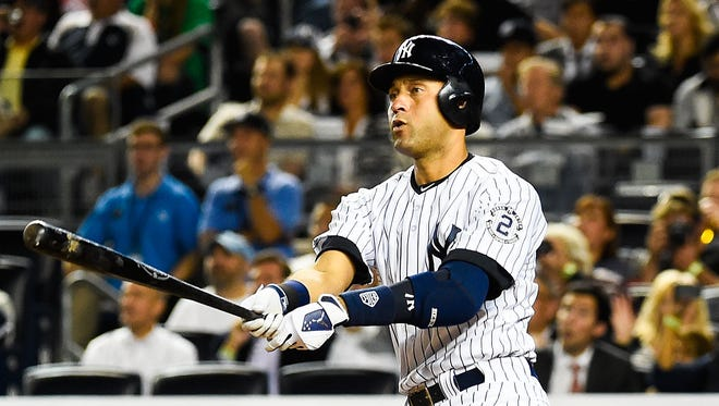 Derek Jeter ended a 158 at-bat homerless streak with the drive in the sixth.