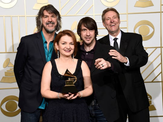 "The SteelDrivers — Brent Truitt (from left), Tammy Rogers, Gary Nichols and Mike Fleming — won a Grammy for Best Bluegrass Album for """"The Muscle Shoals Recordings"""" in February. The band will perform at Rushville's Riverside Park Amphitheater on Aug. 27."