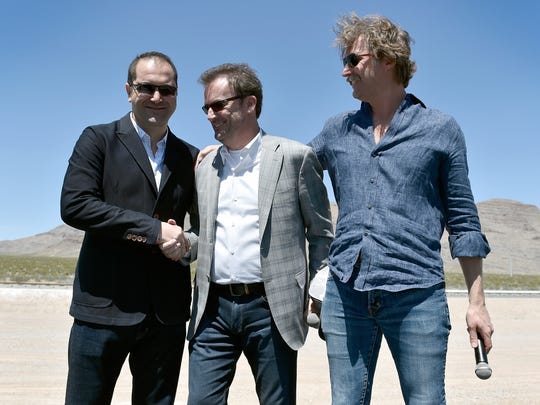 NORTH LAS VEGAS, NV - MAY 11:  (L-R) Hyperloop One