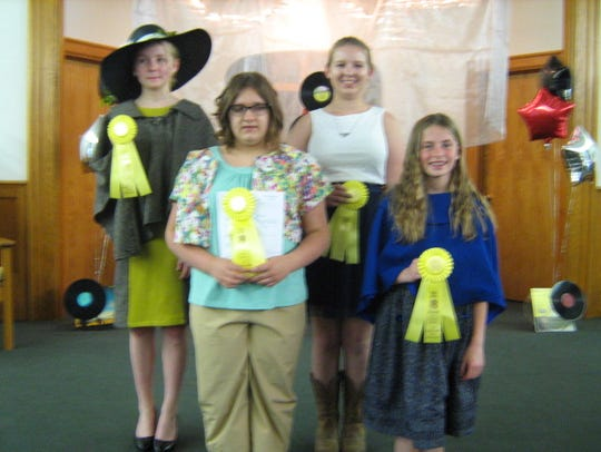 Winners from Capital Region 4-H Fashion Revue. Front