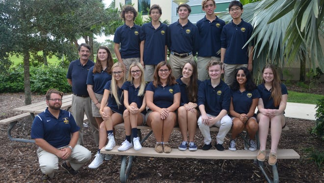 The students of the invention team at the Pine School in Hobe Sound.