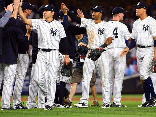 Aug 11, 2017; Bronx, NY, USA; The New York Yankees