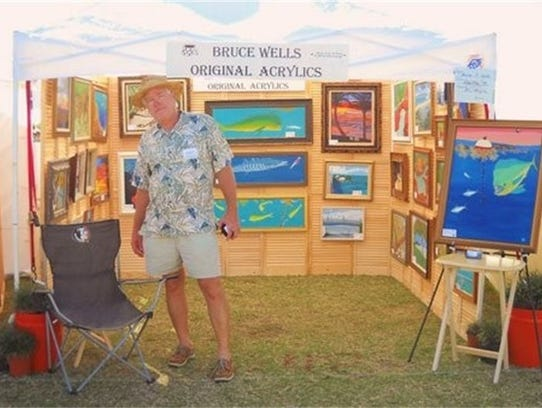 Bruce Wells will exhibit his acrylic paintings at Art in the Park in Stuart on Nov. 25 and 26.