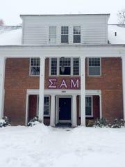The Sigma Alpha Mu house in Ann Arbor, Mich., on Feb.