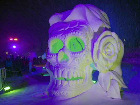 The Snow Sculpture Championships runs on Saturdays