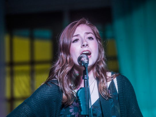 Abigail Douglas performed at a benefit concert for