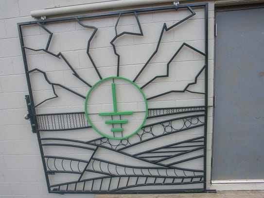 The front gate of Technical Earth Recordings, which