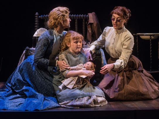 Jenny Strassburg, left, as Kate Keller, young actress