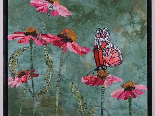 A piece by Kathie Briggs, a participant in the Weaverville Art Safari, April 28-29