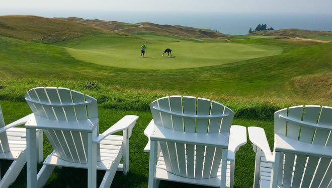 With its golf course hugging the shore of Lake Michigan, Arcadia Bluffs in Arcadia, Mich., looks beautiful all year round - but fall has a special quality, Fall stay and play packages make experiencing it more affordable.