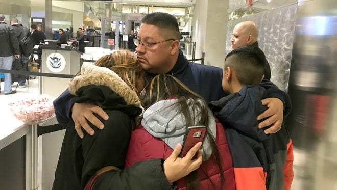 Jorge Garcia with his family in Detroit on Jan. 15, 2018.