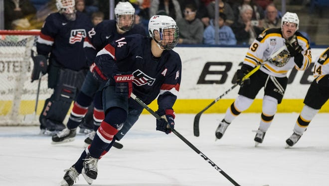 Michigan signee Josh Norris spent two seasons with the U.S. National Team Development Program, based in Plymouth. Norris was drafted by the San Jose Sharks in the first round of the 2017 NHL draft.