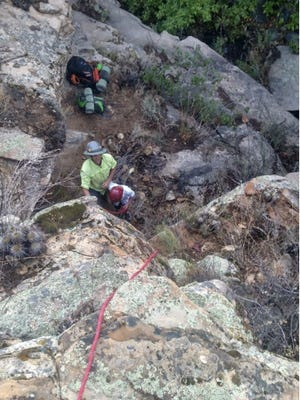 A GPS device led a rescue team in Yavapai County to locate a father and son Tuesday who were reported missing the previous day.