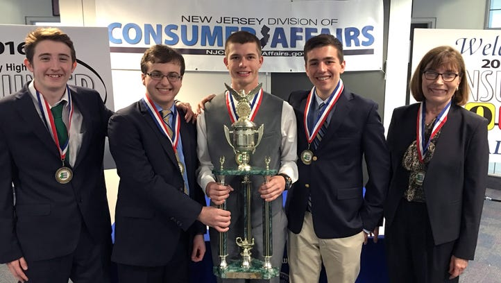 Students from Moorestown Friends School won the Division of Consumer Affairs' Consumer Bowl on Friday.