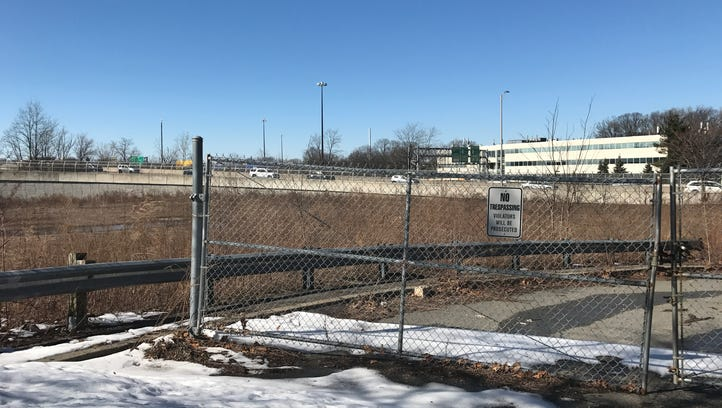 This empty lot at the end of a dead end on Maple Street in Paramus may be proposed as an area in need of redevelopment.
