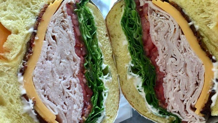The turkey club ($10.99) includes thinly sliced Boar's