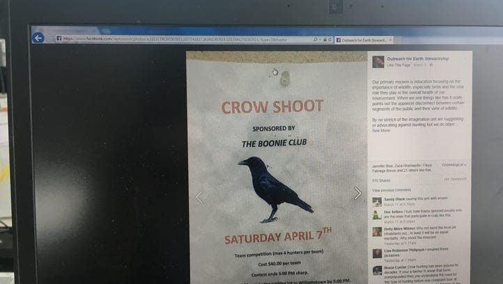 Crow shoot generates outcry against local business owner