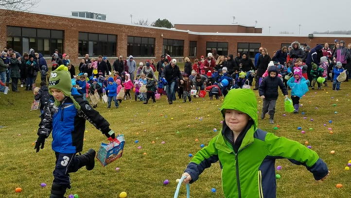 Here comes Peter Cottontail: Easter egg hunts abound