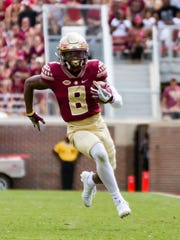 Florida State junior wide receiver Nyqwan Murray (8) will step into a larger role during Auden Tate's foreseeable absence due to injury.