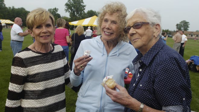 Three former Farmington Hills Mayors (from left) Joan Dudley, Joanne Smith and Jan Dolan were together to celebrate the city's 40th birthday.