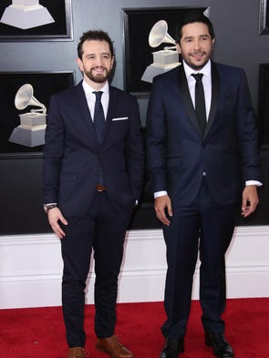 Despacito producers Andres Torres (L) and Mauricio