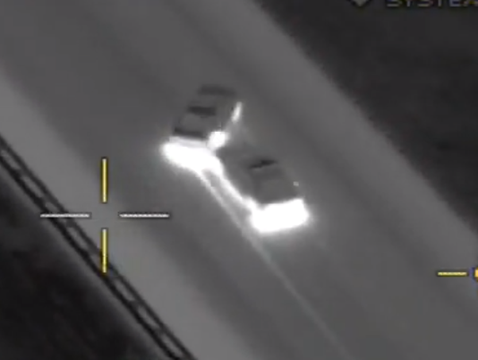 Pit maneuver used to catch fleeing suspect