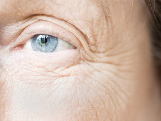 Blue Eye of Elderly Woman