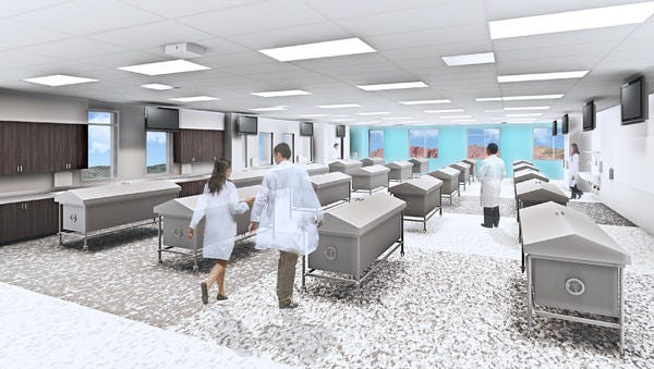 A graphic rendering of the Rocky Vista University College of Osteopathic Medicine demonstrates what the new labs will look like. The campus will be the second medical school in Utah.